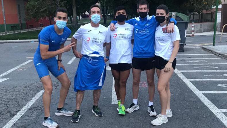 Los atletas del Athletic Club Vinos DOP Jumilla en Cartagena
