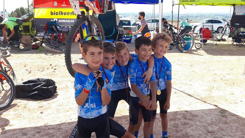 Podio para la Escuela de Ciclismo en la cita de Totana de las Kid Series