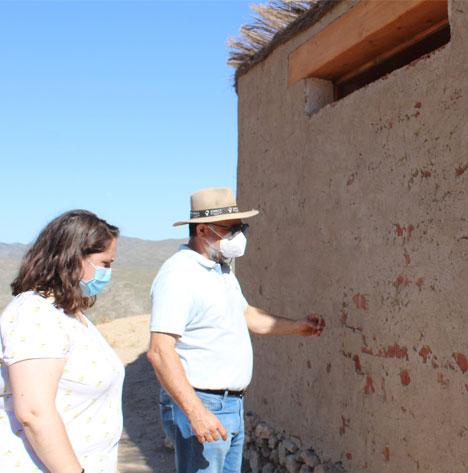 El muro oeste ha sufrido desperfectos tras las lluvias del pasado mes de junio