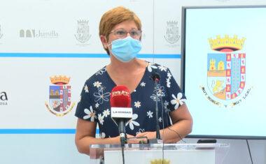 Juana Guardiola comparece para dar cuenta de la evolución de la pandemia ante el aumento de casos en el municipio