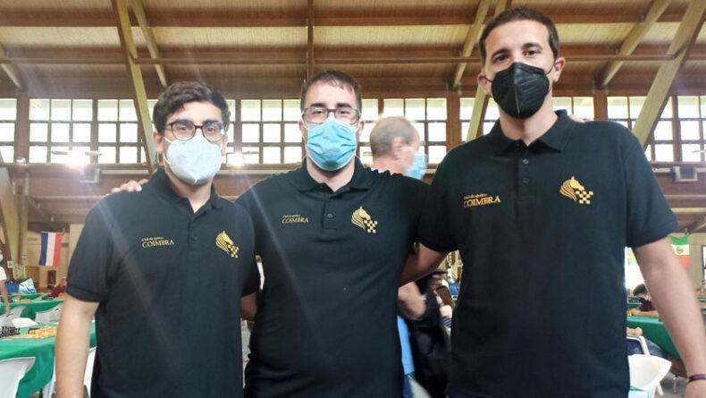 Los tres jugadores del Club Ajedrez Coimbra en el Open Internacional Villa de Benasque