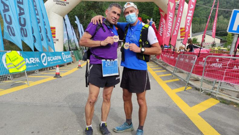 Pedro José Jiménez y Jesús Ángel Abellán en la Gran Trail Aneto Posets