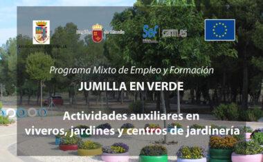 """Hoy se abre el plazo de selección de personal formador para el PMEF """"Jumilla en verde"""""""