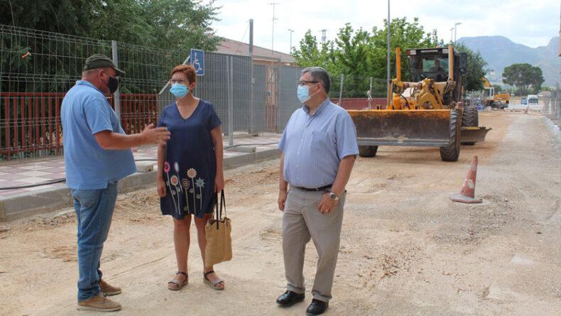 Visita a las obras de la alcaldesa de Jumilla, Juana Guardiola, y del concejal de Obras y Urbanismo, Francisco González