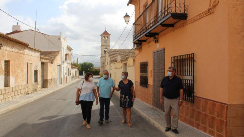 Visita a las obras de la alcaldesa de Jumilla, Juana Guardiola, y de los concejales de Obras y Pedanías