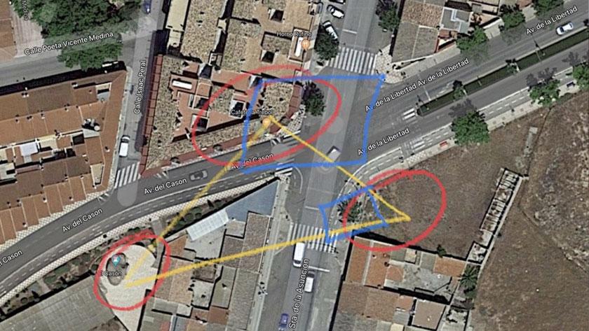 La esquina de Avenida de la Asunción con Avenida de la Libertad es una zona delicada arqueológicamente hablando, ya que existen unas termas romanas y una villa también romana de elevada importancia