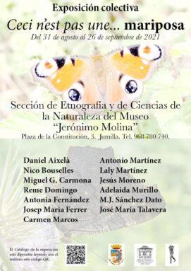 Cartel de la Exposición 'Ceci n'est pas une... mariposa'