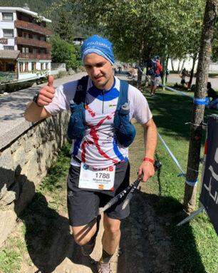 Miguel Ángel Sánchez García participó en la de 170 km con 10.000 mt+