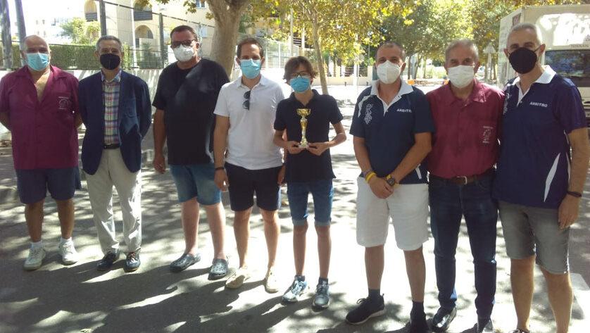 El ajedrecista Paris Francisco Ortega campeón del torneo de Xábia en categoría SUB-14