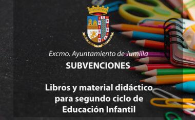 Hoy se ha abierto el plazo para solicitar subvenciones para libros y material de segundo ciclo de Educación Infantil