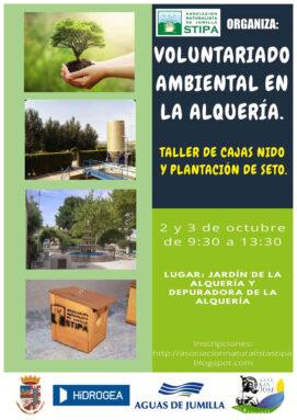 Cartel de actividades STIPA y Aguas de Jumilla