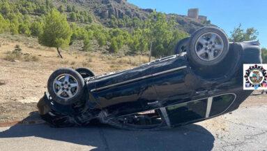 Imagen del coche accidentado cedidas por la Policía Local