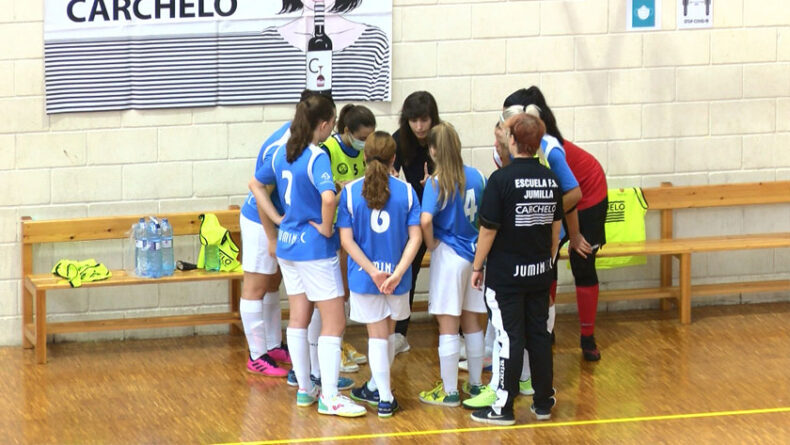 Derrota en el primer partido de pretemporada para el equipo juvenil femenino de la Escuela de Fútbol Sala Bodegas Carchelo