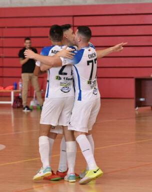 Los jugadores del Vinos DOP Jumilla FS celebran el gol del empate