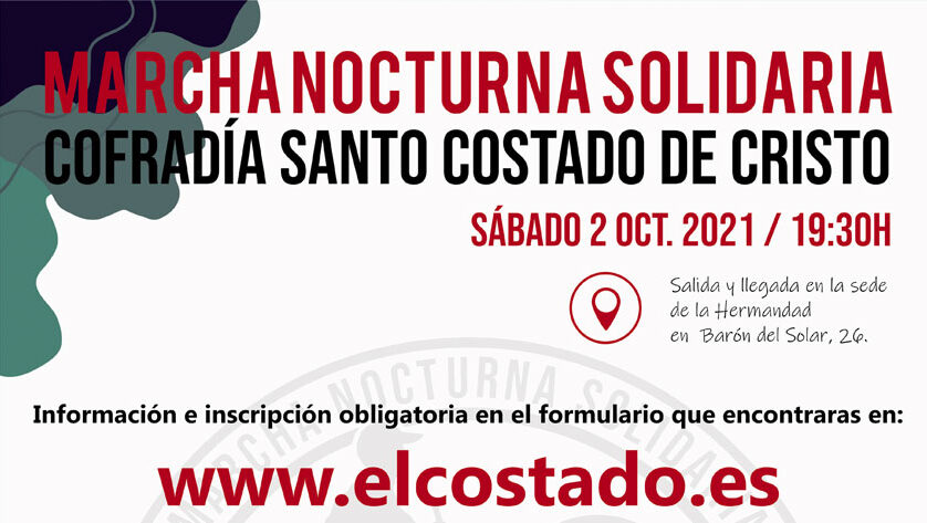 El Santo Costado de Cristo ya tiene fecha para su Marcha Nocturna Solidaria