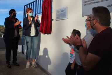 Se ha dispuesto una placa conmemorativa de la rehabilitación del Velódromo