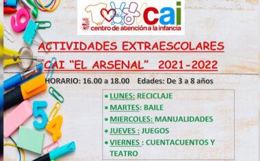Hoy se abre el plazo de inscripciones para las actividades extraescolares del CAI