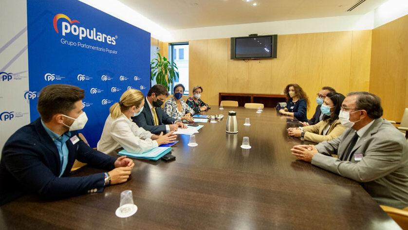 El PP de Jumilla se reúne en Madrid con diputados nacionales para abordar temas de interés general para el municipio