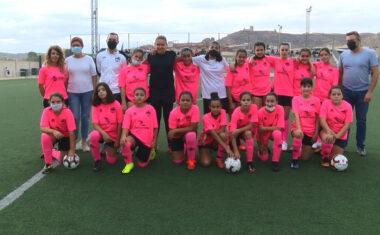 El equipo  femenino de la Escuela Formativa  de Fútbol Base Jumilla disputa su primer partido de pretemporada