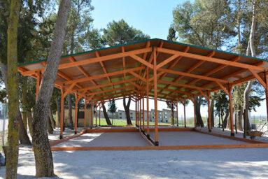 Campo de petanca cubierto en El Bonillo (Albacete)